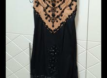 فستان بيج و اسود