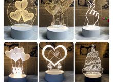مصباح ثلاثي الابعاد   LED 3D