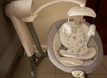 Joie Travel kot with changer , bouncer , mattress and joie serina swivel baby swing