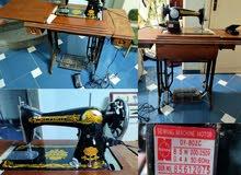 ماكينة خياطة سنجر ياباني بالماتور والترابيزة بحالة جيدة جدا