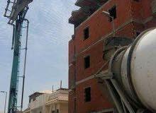 قيام أعمال المباني عظم بالمواد + تشطيب