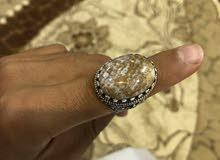 للبيع خاتم فضه تركيه 100٪
