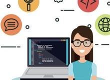 مطلوب مصممه ومبرمجة مواقع وتطبيقات موبيل