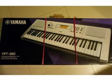 بيانو كيبورد ياماها YPT-360 جديد بالكرتونة مكفول نوعية ممتازة وصوت نقي ب340دينار