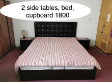 bedroom, 2 side tables, cupboard