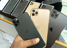 IPhone 11pro max 256gb with box كارتون مع ضمان اخضر /رمادي
