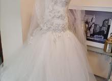فستان زواج مستعمل ليلة فقط