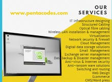 IT infrastructure,IT Hardware solutions,Web Solutions,Hosting solutions,Professional services