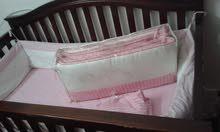 سرير اطفال ومرحيحه وزحليقه استخدام بسيط سبب ضيق البيت