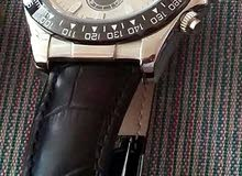 ساعة رولكس رجالية جلد