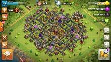 لعبة كلاش أوف كلانس clash of clans تاون مستوى 10 وقاعدة بناء تاون 8
