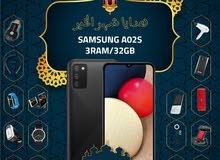 سامسونغ A02s الذاكرة 32G الرام 3G مع بكج هدية وتغليف حراري مجاناً Samsung