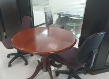 Round Meeting Table & 2 Chairs