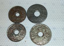 قطع نقدية فرنسية قديمة