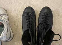 converse black new shoe