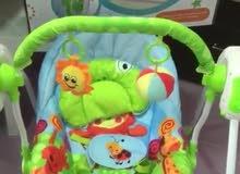مرجيحه اطفال من عمر يوم لا 9 اشهر. تشتغل على البطاريه او الكهرباء مع موسيقى