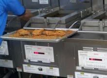 ماكينة بروستد هني بني أمريكية النظام المفتوح  8 دجاجات