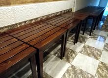 طاولات خشب سويد وزان