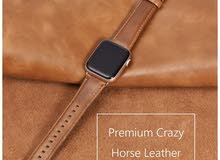 Brown Leather Band for Apple Watch Series 4 44mm and series 3,2,1 42mm