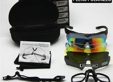 نظارة شمسية بخمس عدسات متنوعة
