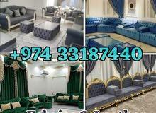 sofa, chair, Majlish Reupstorey, carpet, wallpaper selling and fixing
