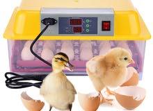 حضانة تحمل 24 بيضة دجاج و 96 بيضة سمان ذات جودة عالية وممتازة