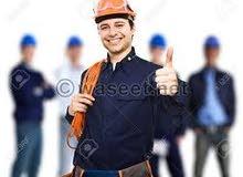 عمال صيانة (نجار -سباك -فنى تبريد وتكيف - فنى مرمات - استورجى -فنى تيار خفيف -كهربائى )