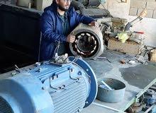 إعادة لف وصيانة المولدات والمحركات الكهربائية ذات الجهد العالي