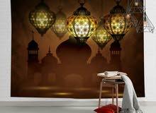 لوحات مع اضاءة New collection  home decoration  Wall paper and table c