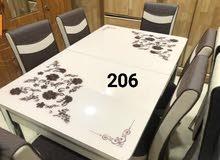 طاولة سفرة 6 كراسي صناعة تركي