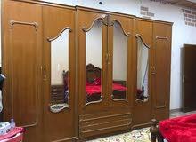 غرفة نوم مستعمله السعر مليون وبيها مجال خشب صاج