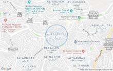 قطعه أرض مطله اطلاله رائعه على فلسطين وعمان الغربيه على الابراج السادس مميزه