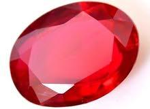 جواهر طبيعى ياقوت حر أحمر 13 قيراط بالشهاده الأصليه