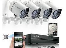 كهرباء و كاميرات المراقبة وأجهزة النذار