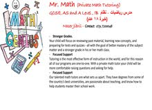 Math Teacher - IGCSE/SAT/A Level