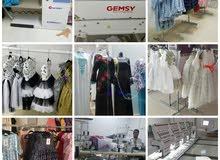 معرض ومصنع ملابس جاهزه للبيع
