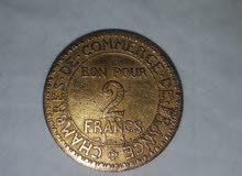 2 francs d'or de france 1929
