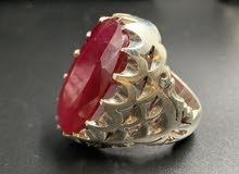 خاتم ياقوت احمر ( حجم )