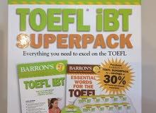 مجموعة كتب وسيديات للتحضير للتوفل Barron's TOEFL IBT Superpack