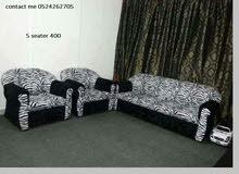 3 + 2 + 1 + 1 و 3 + 1 + 1 طقم كنب للبيع  7  sofa set 7 seater