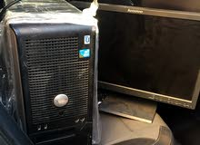 كمبيوتر مكتبي مع شاشة كيبورد ماوس مستعمل