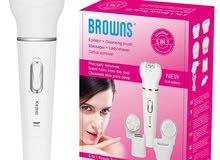 جهاز تنظيف ونظارة الوجه BROWNS 5 In 1