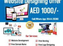 Website Designing @ 1000 for your business, Call/WhtsAp @ +971 5444 26360