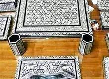 طقم مكتب مرصع اصداف بحرية