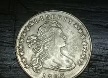 للجادين فقط للبيع _عملة امريكية يعود صنعها ل عام 1796  تلفون 0778301778