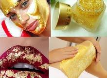 gold leaf 24K Carat Spa Facial Mask Gold.