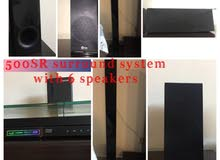 LG sound system with 6 speakers