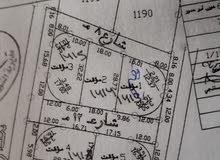 ارض مفروزة للبيع المساحة الإجمالية 1102 مفروزة نمرتين المساحة 559،543