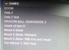 حساب ستيم فيه 10 من أقوى الألعاب للبيع