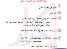» شقة عوائل للإيجار - حي الحمراء - الجبيل